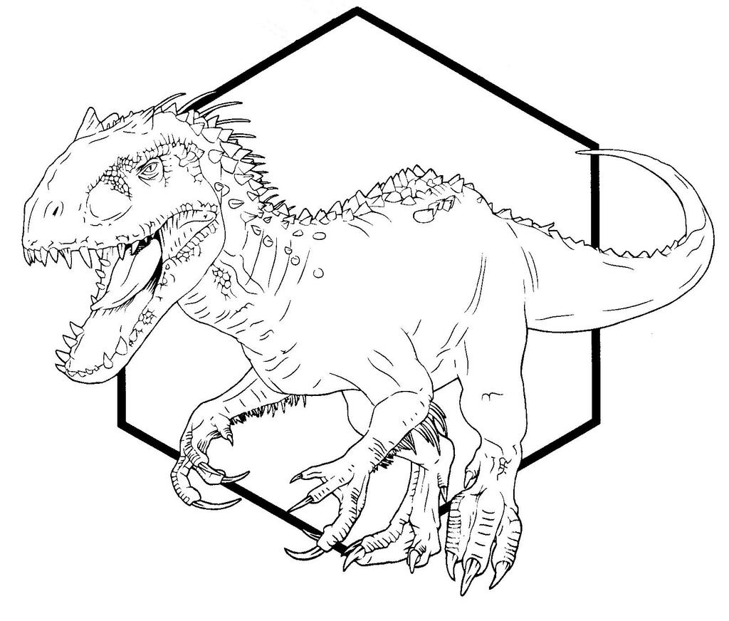 Jurassic World Coloring Pages Indominus Rex