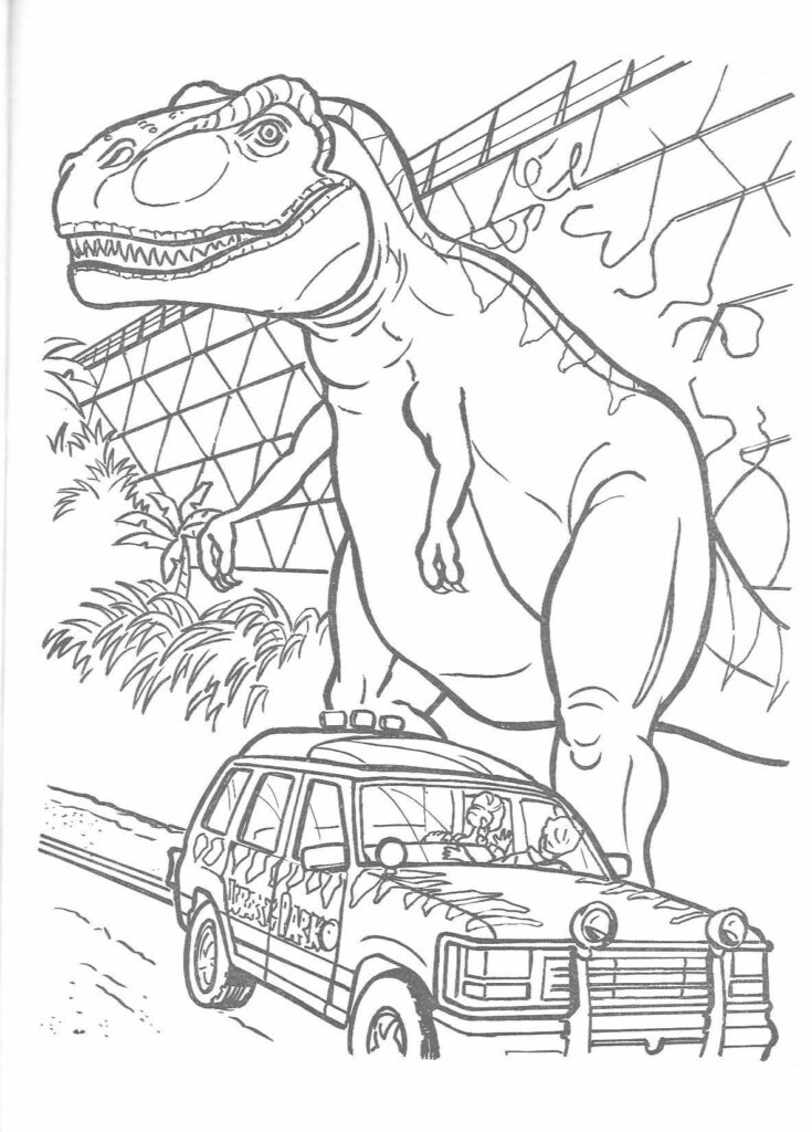Jurassic World Coloring Pages To Print