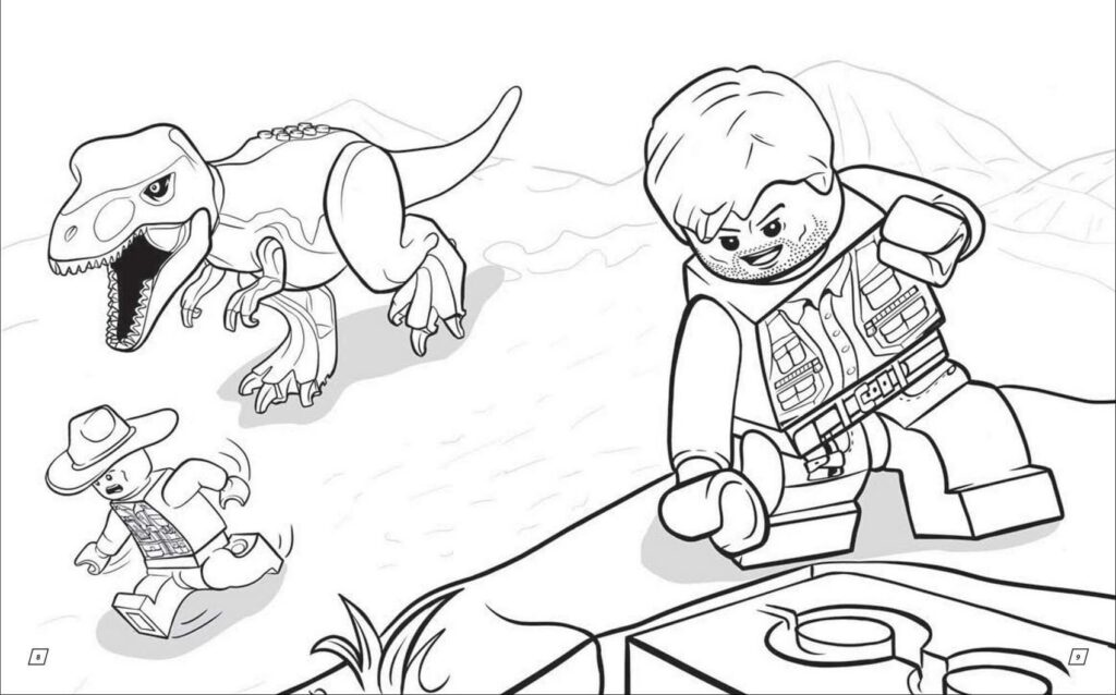 Jurassic World Lego Coloring Pages