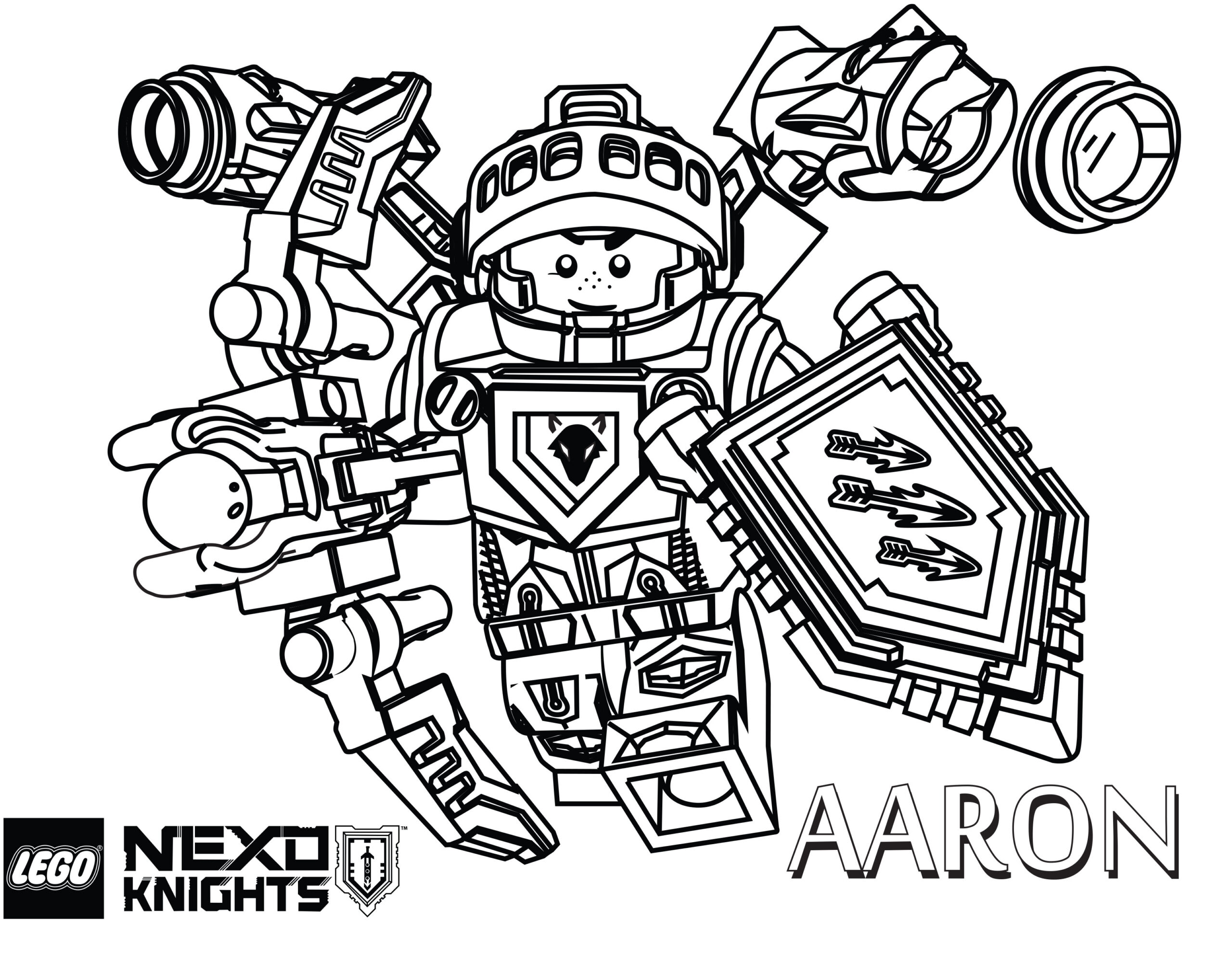 Lego Nexo Knights Aaron Coloring Pages