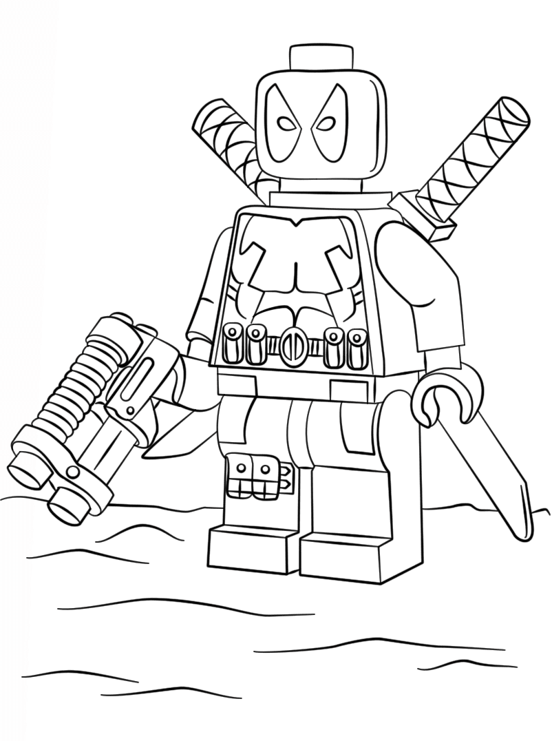 Marvel Lego Coloring Pages