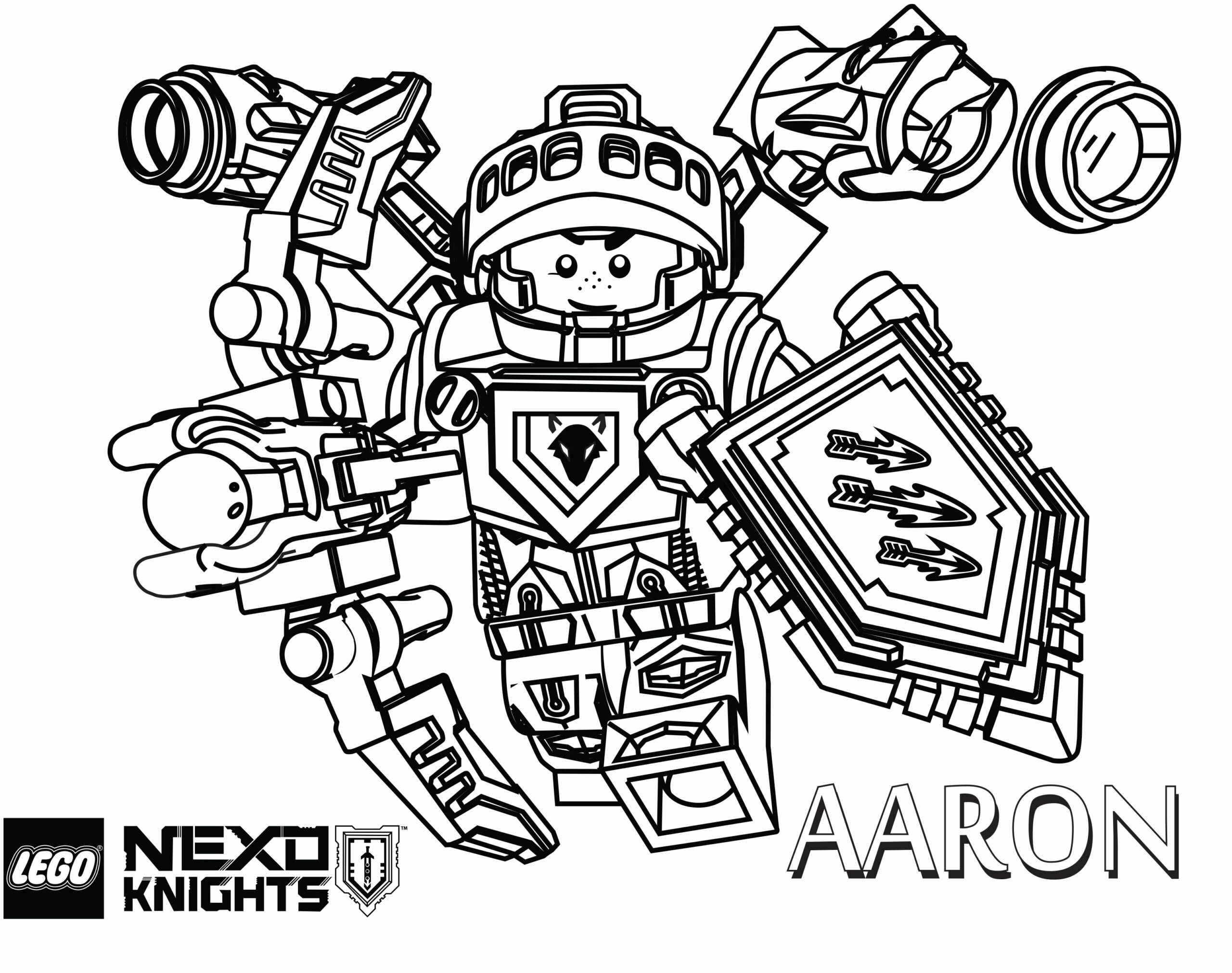 Nexo Knights Coloring Pages Aarons Shiled