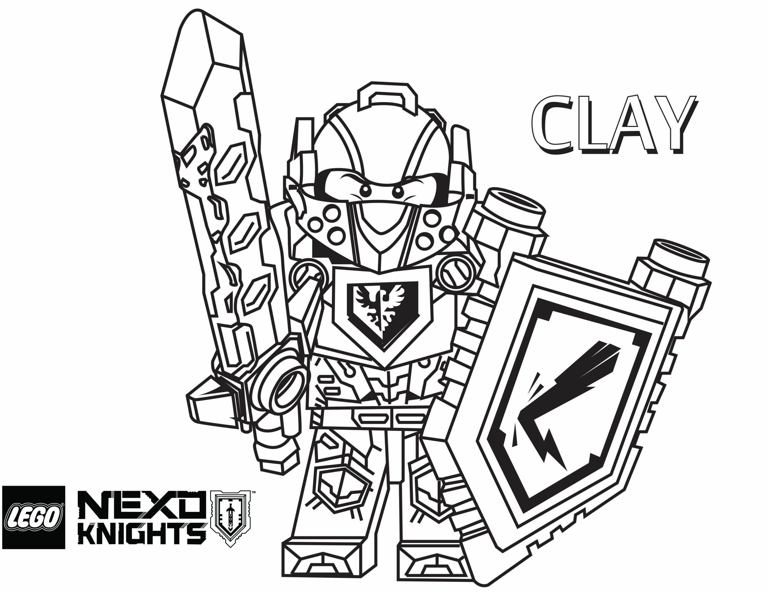 Nexo Knights Coloring Pages Clay