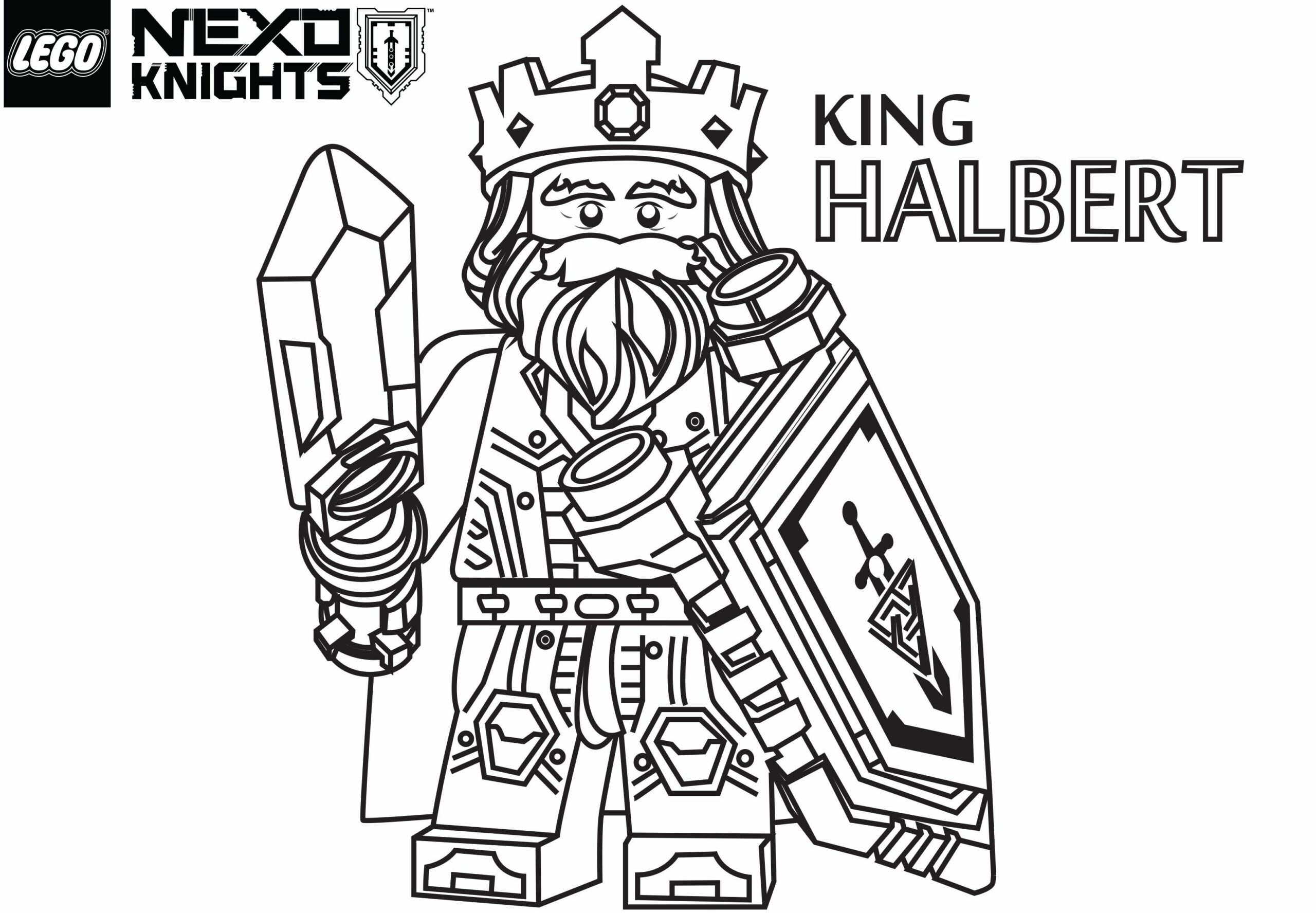 Nexo Knights Coloring Pages Fortex