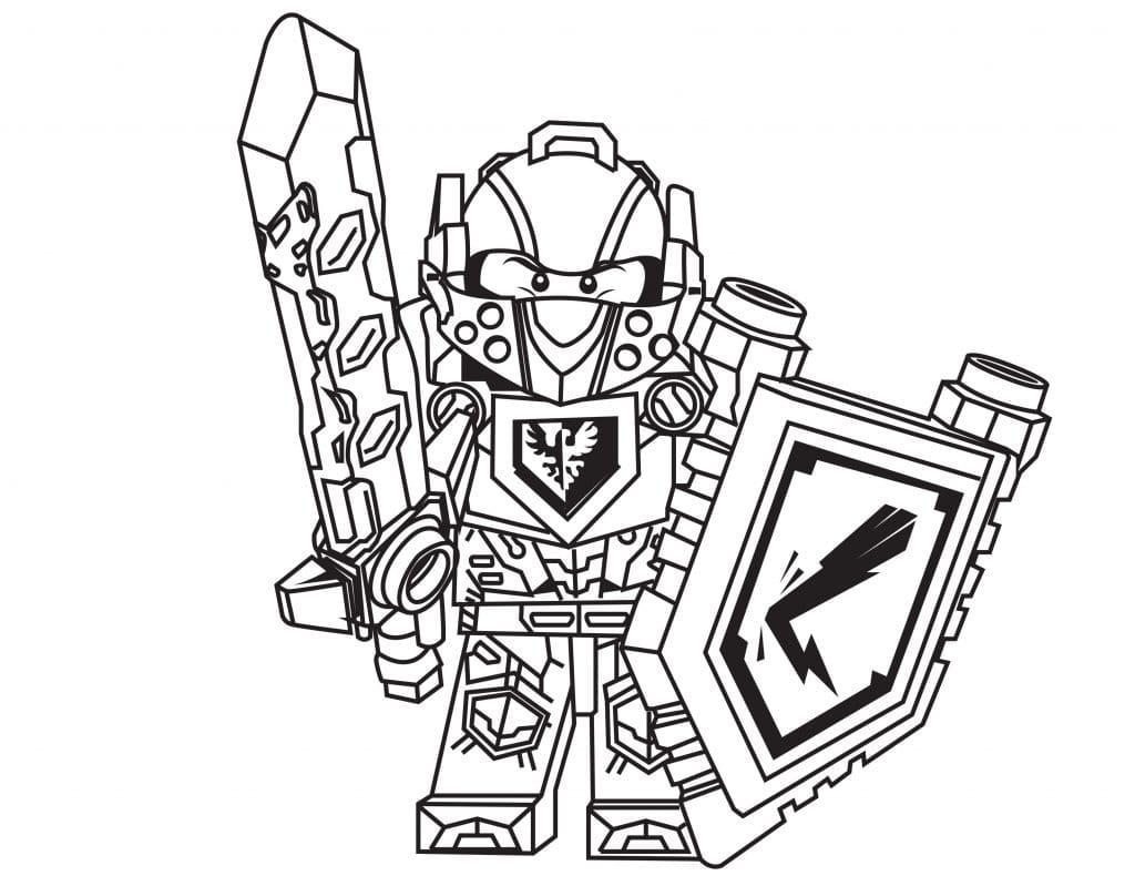 Nexo Knights Coloring Pages Of Clay