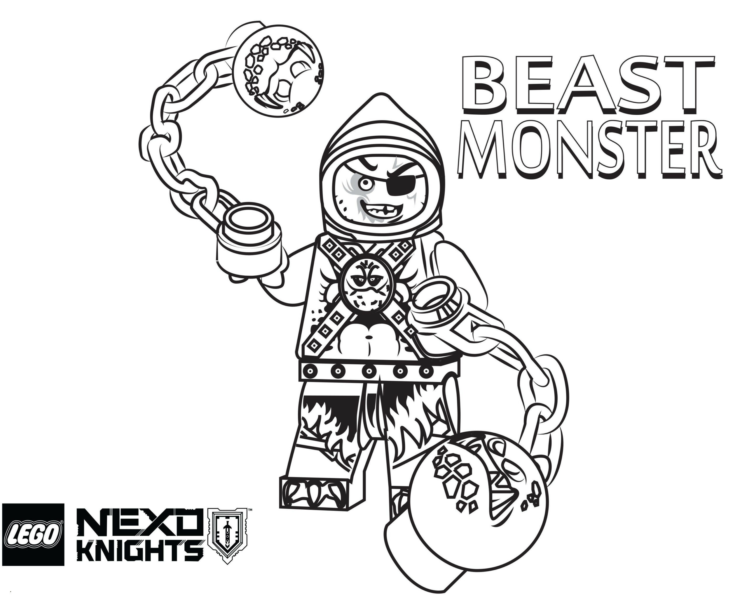 Nexo Knights Coloring Pages Season 4 Lightning Monsters
