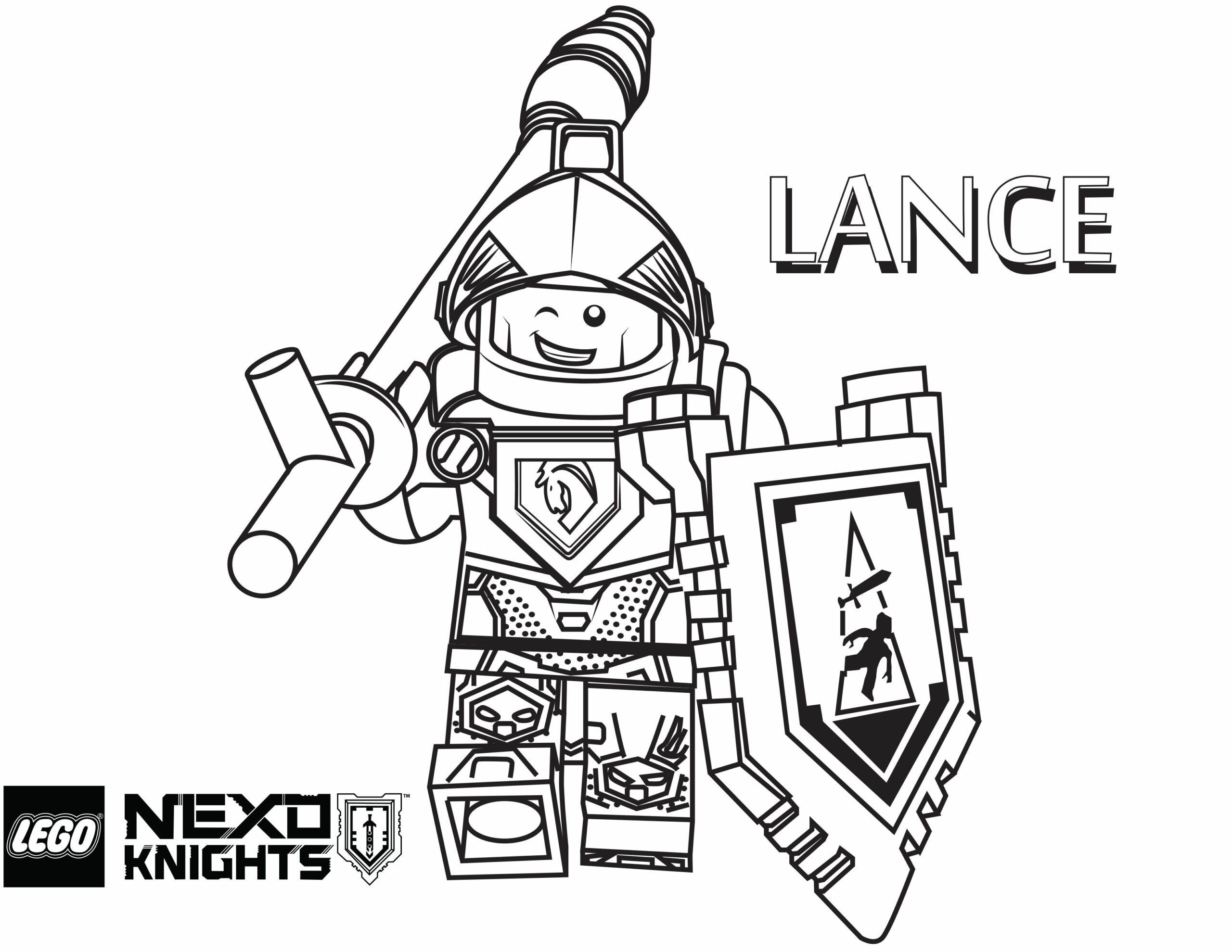 Nexo Knights Printable Coloring Pages