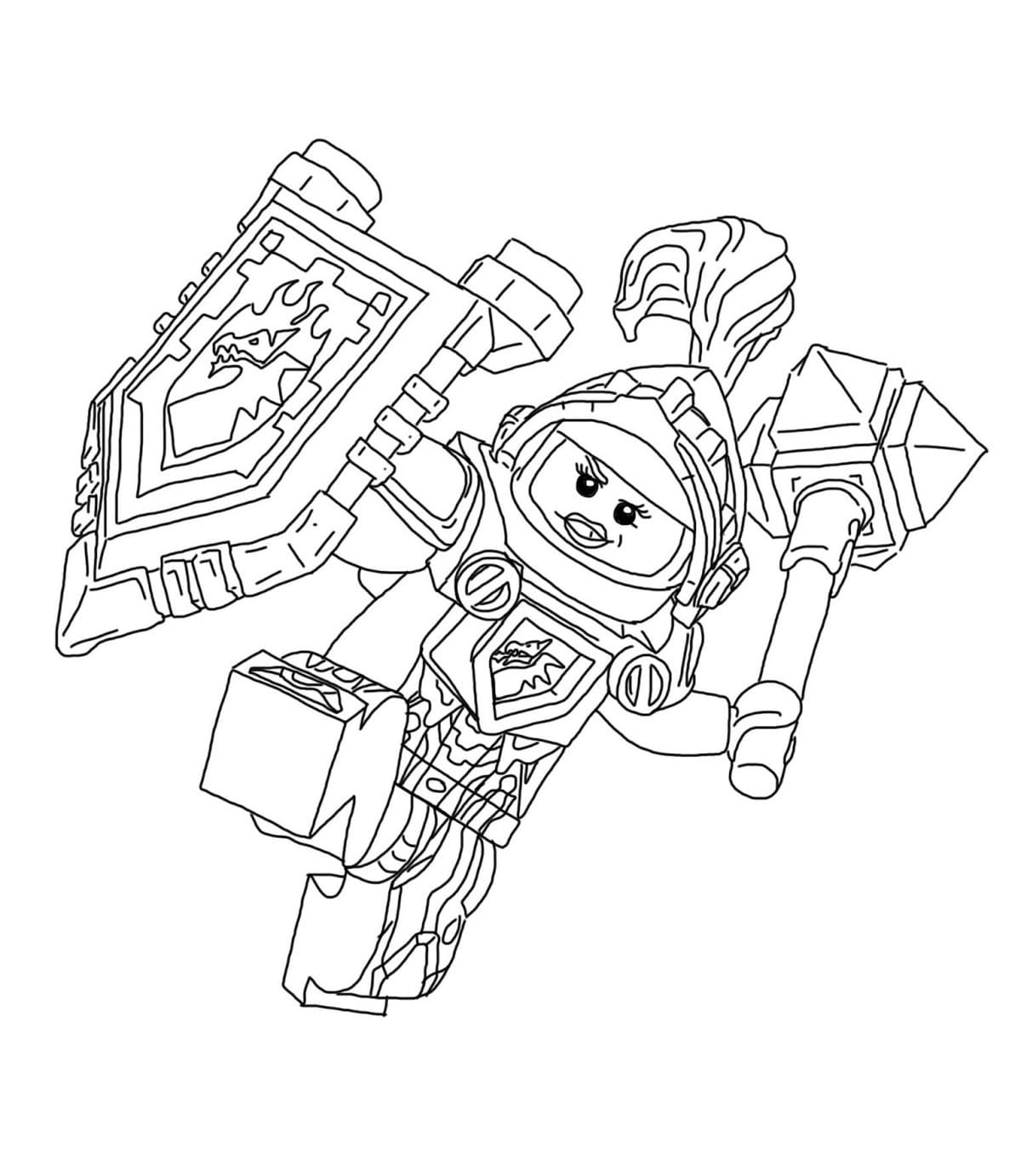 Nexo Knights Ships Coloring Pages