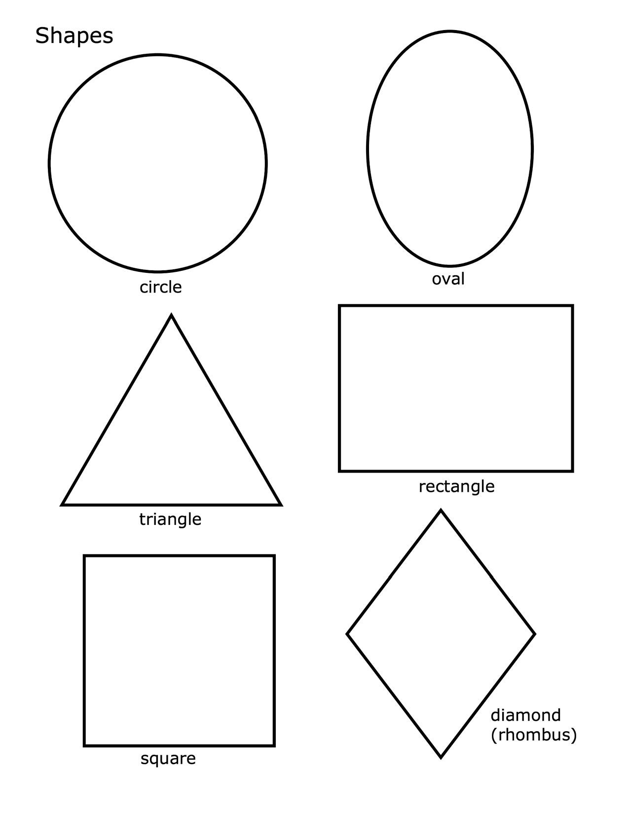 Shapes Coloring Pages For Kindergarten