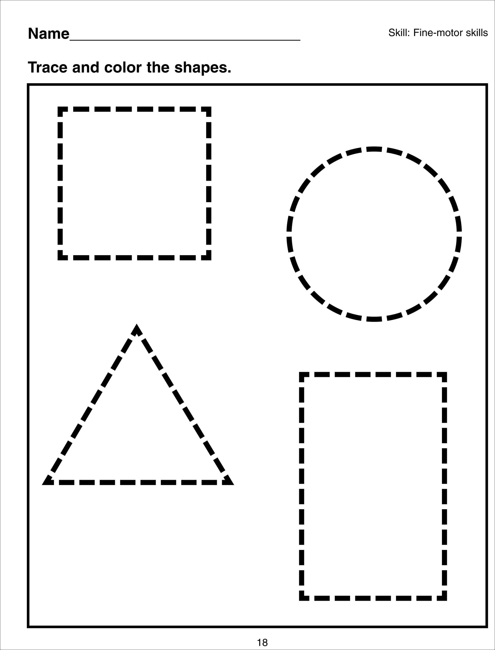 Shapes Coloring Pages Pdf