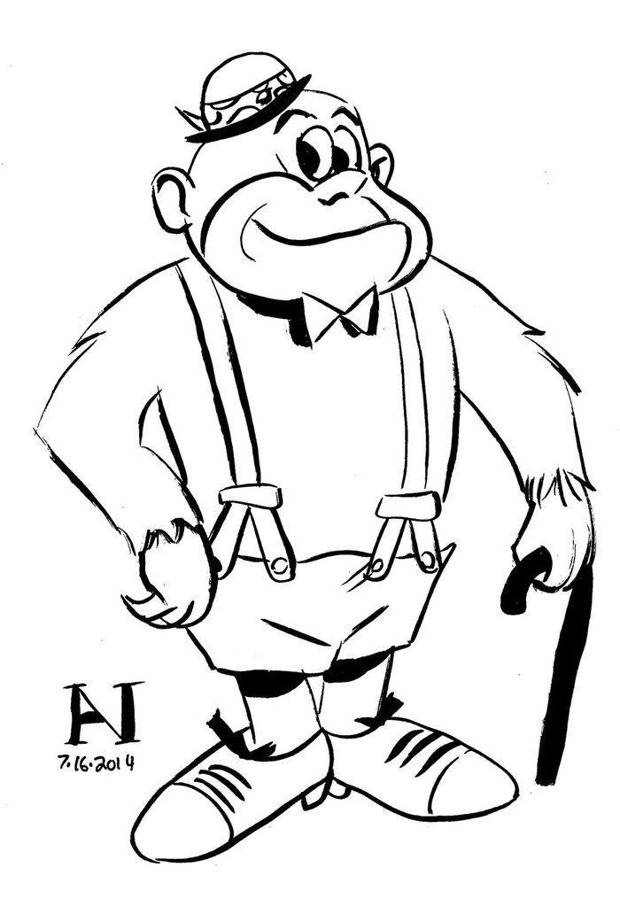 Sing Gorilla Coloring Pages