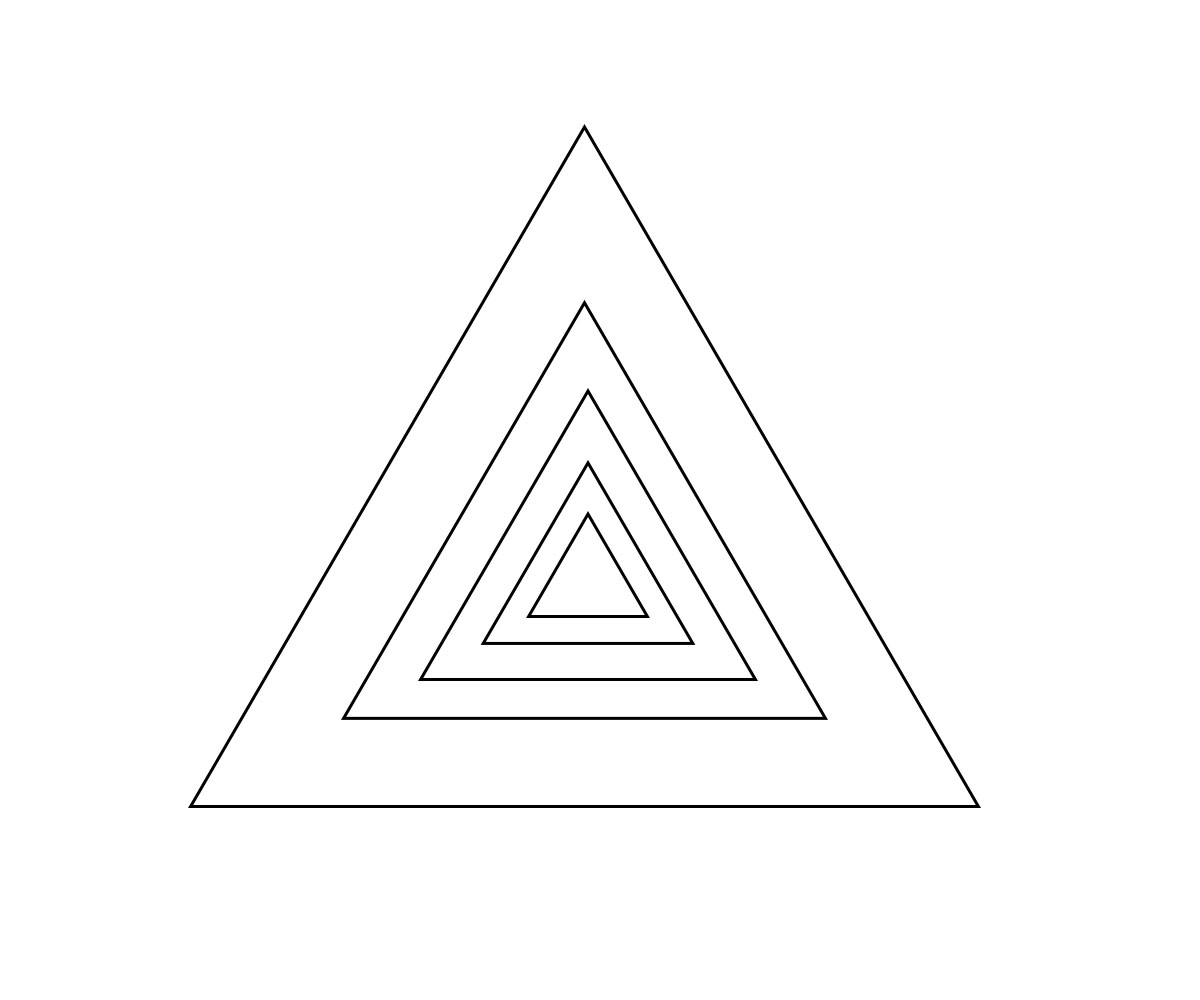 Triangle Shape Coloring Pages