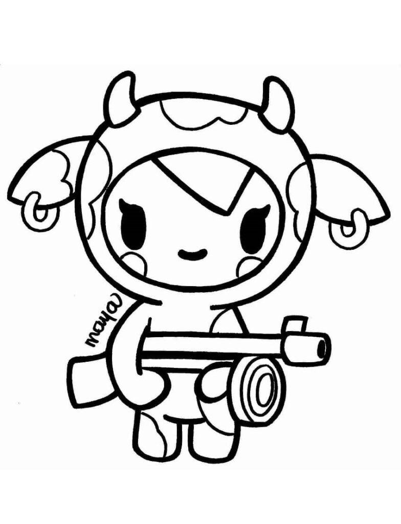bdx tokidoki moofia coloring pages