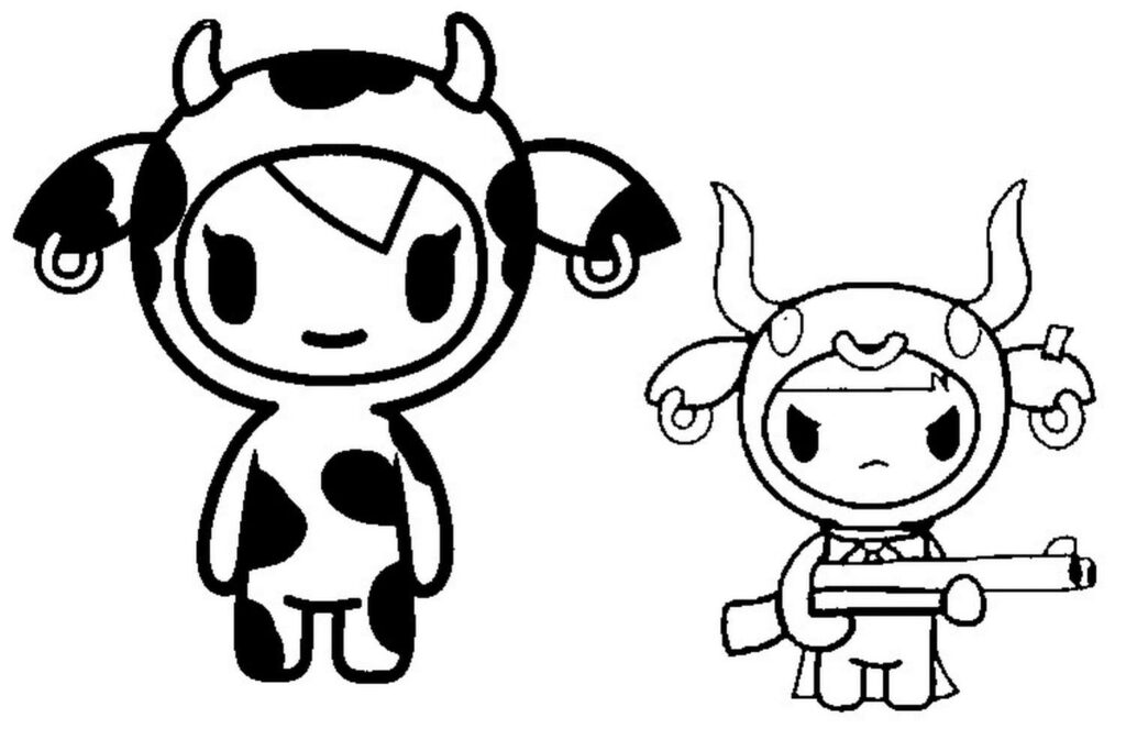 free coloring pages simple tokidoki