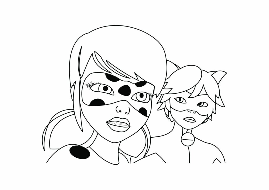 ladybug miraculous coloring pages