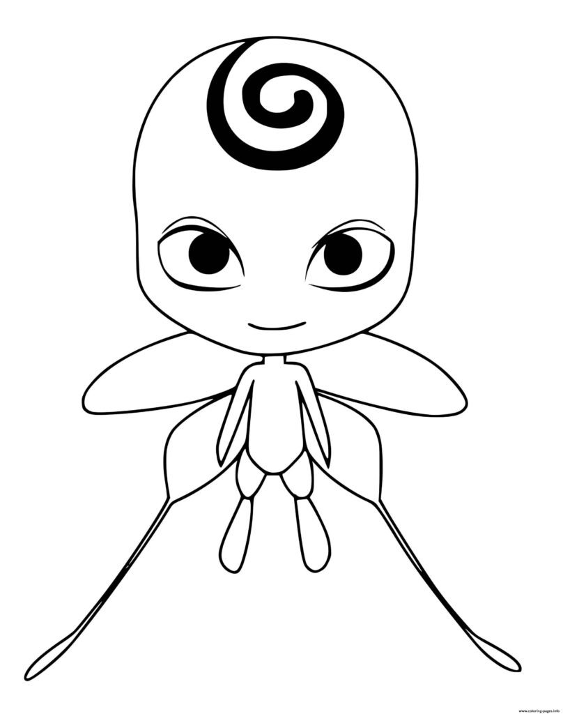 miraculous coloring pages nooroo