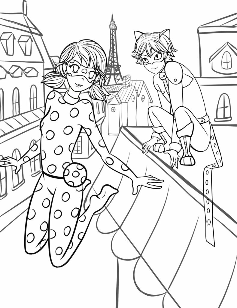 miraculous ladybug coloring pages printable