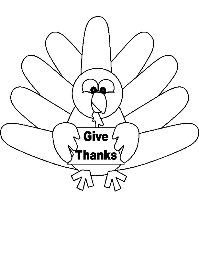 Baby Turkey Coloring Pages