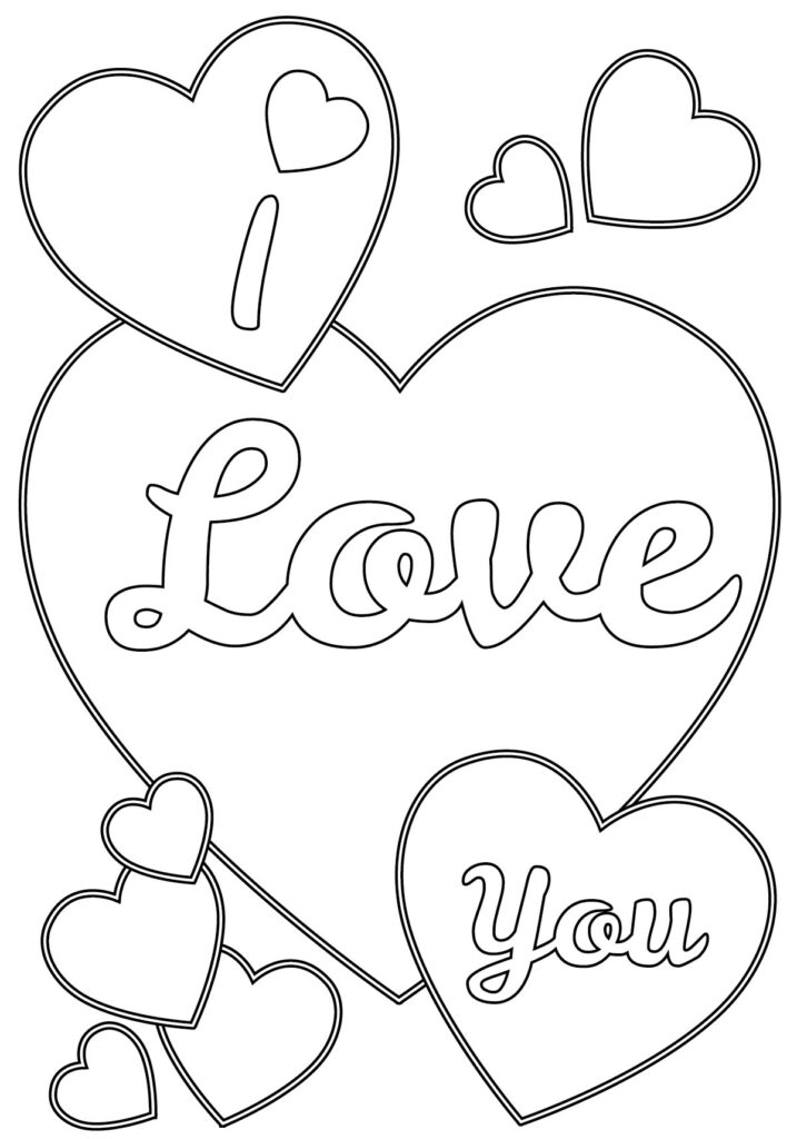 Coloring Pages I Love You