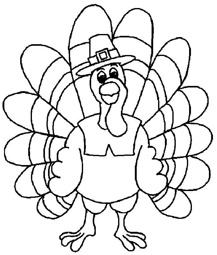 Coloring Pages Turkey Thanksgiving