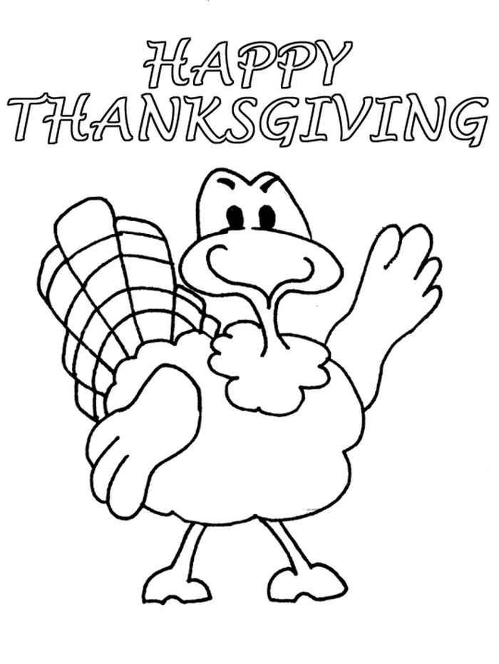 Coloring Turkey Pages For Preschoolers
