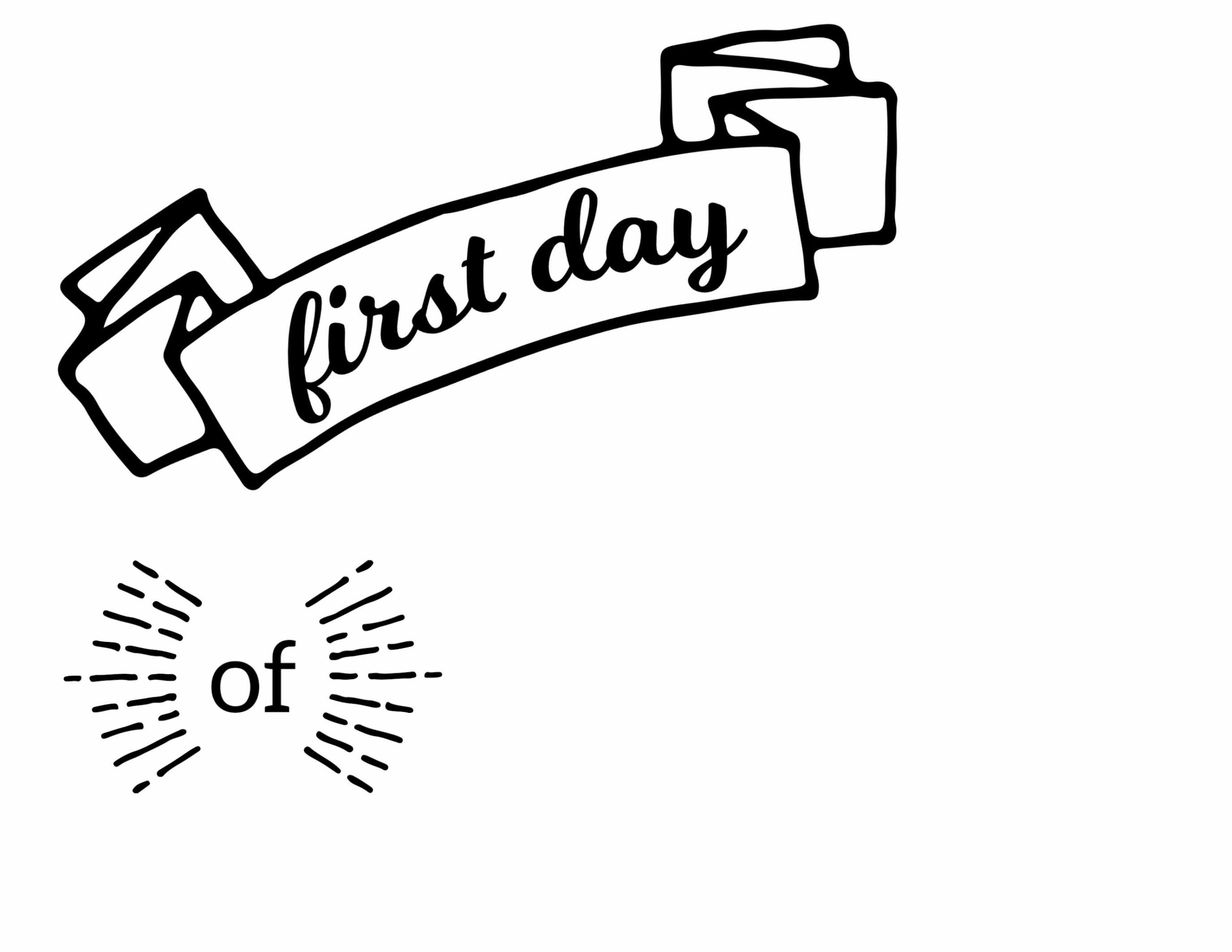 Crayola Coloring Pages About First Day Of School
