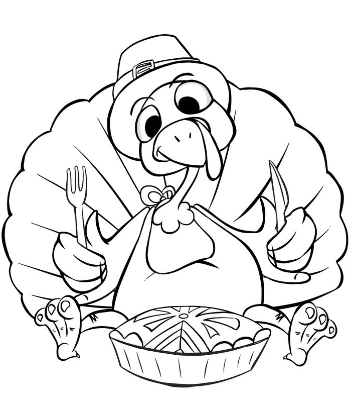 Crazy Turkey Coloring Pages