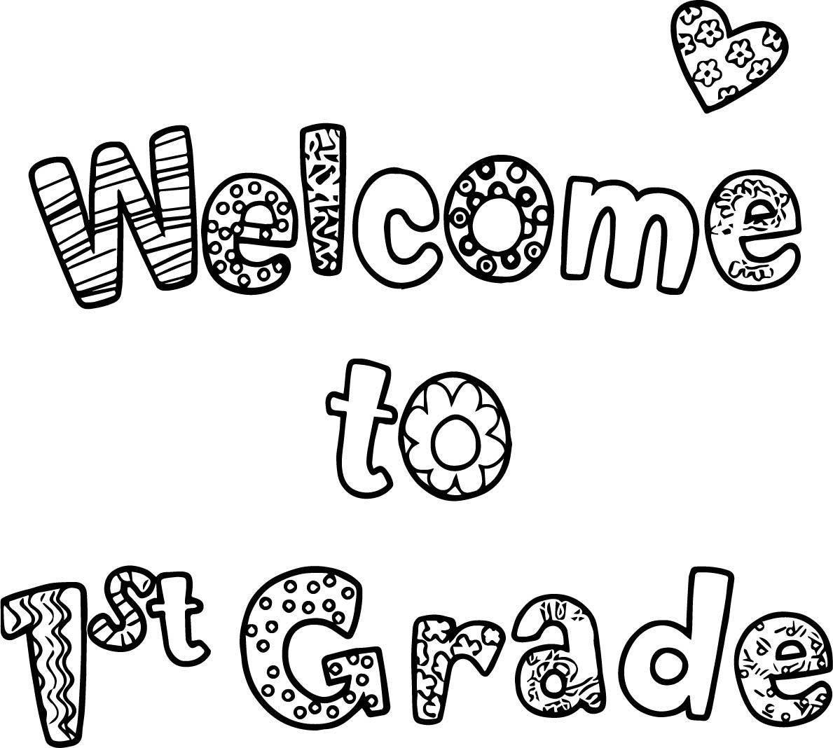 First Day Of School Coloring Pages 1st Grade
