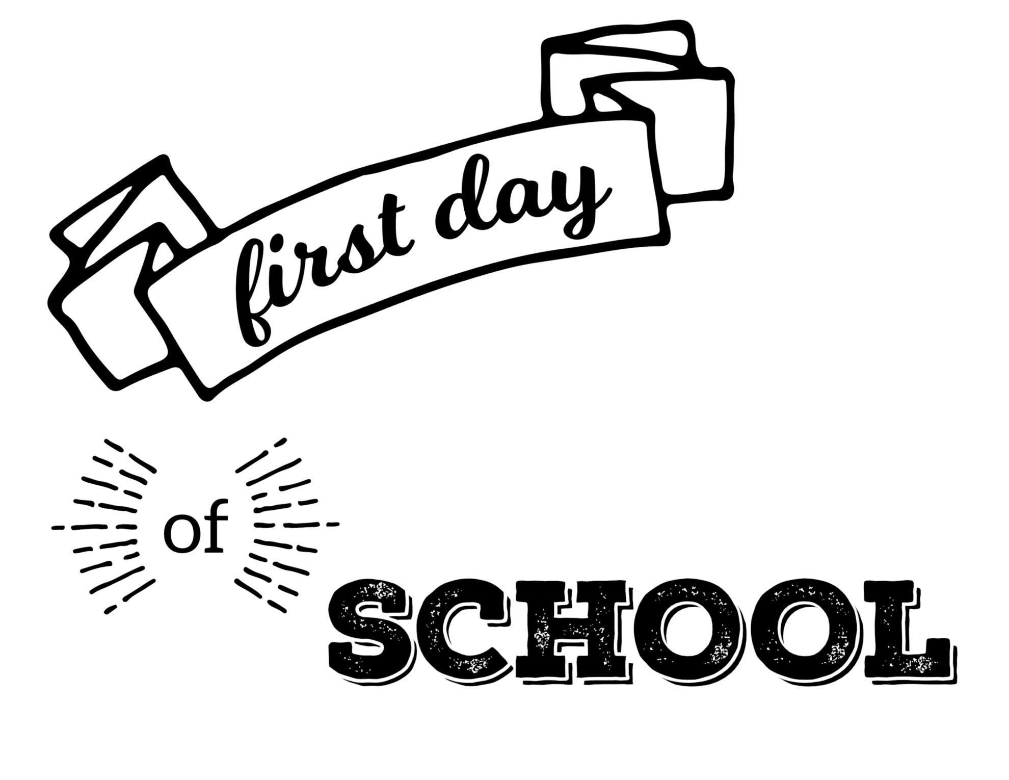 First Day Of School Coloring Pages Free