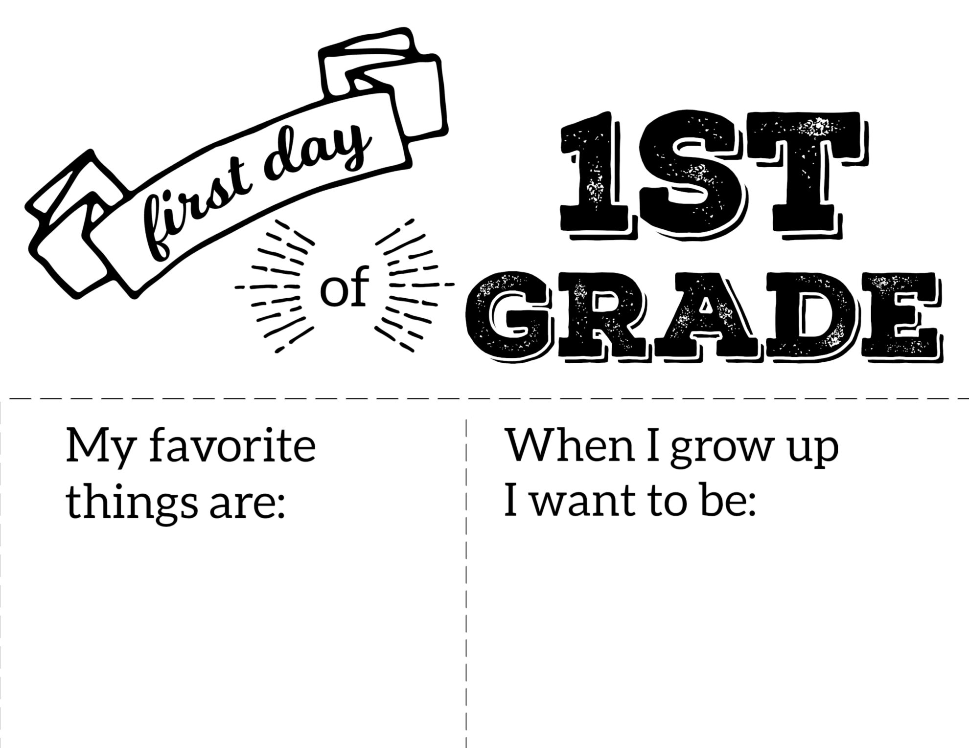 Free Printable Coloring Pages First Day Of School
