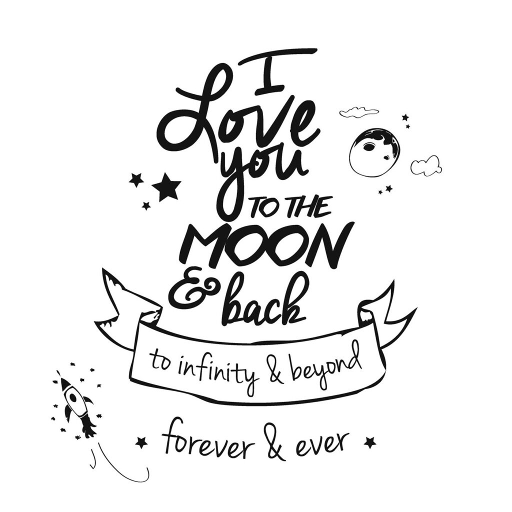 I Love You To The Moon And Back Coloring Pages