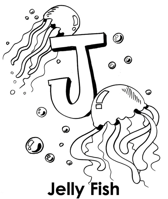 Jellyfish Coloring Pages Pdf