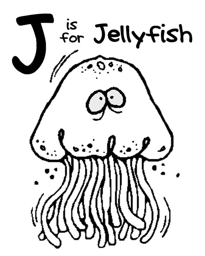 Jellyfish Coloring Pages To Print