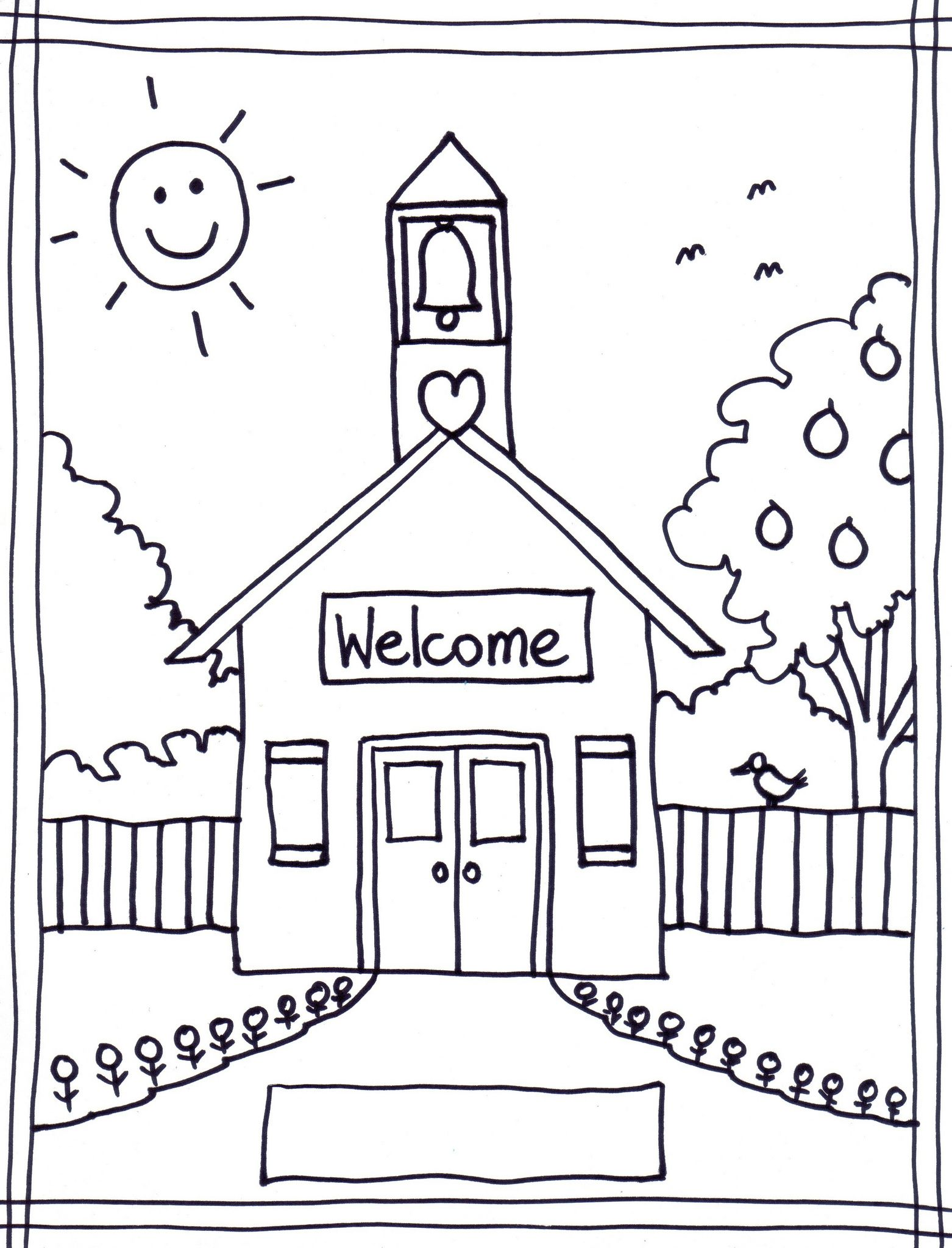 Printable First Day Of School Coloring Pages