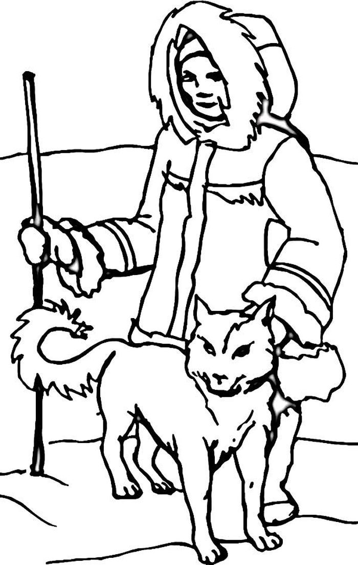 Siberian Husky Puppies Printible Pictures Coloring Pages