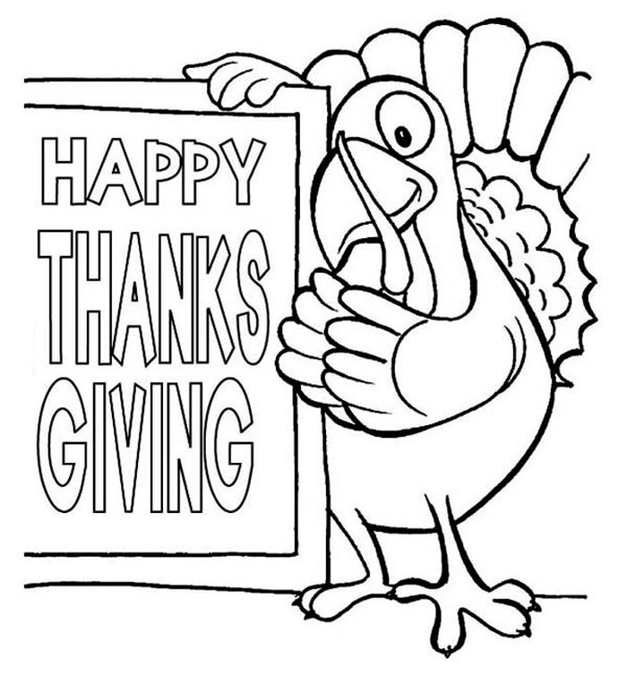 Thanksgiving Turkey Feathers Coloring Pages
