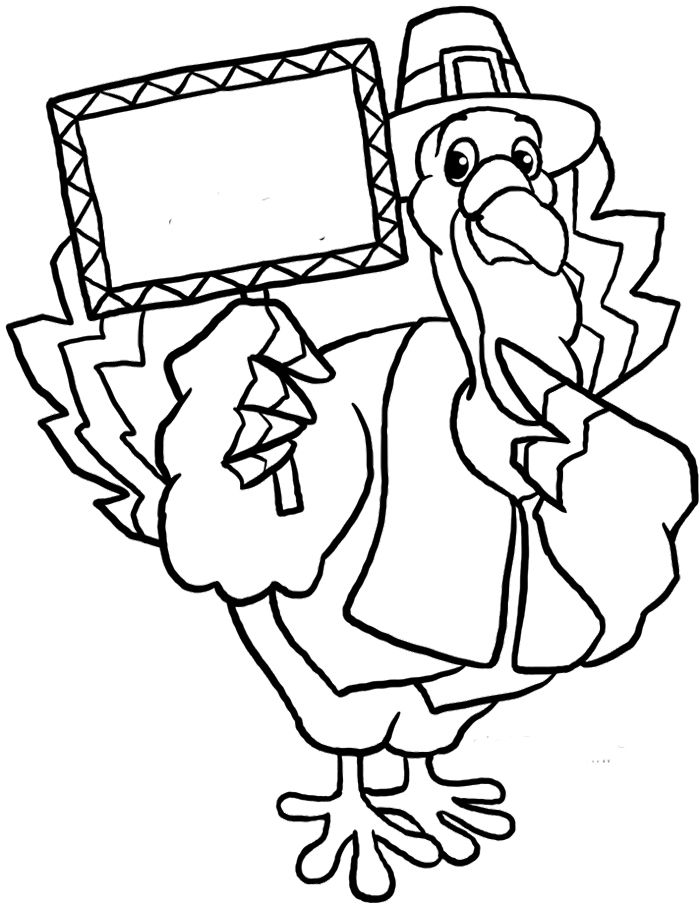 Turkey And Pilgrim Coloring Pages